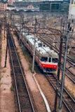 Trem suburbano moderno imagem de stock royalty free