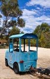 Trem Trackless: Velho e oxidado fotografia de stock royalty free