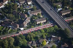 Trem urbano Fotos de Stock Royalty Free