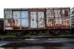Trem velho da oxidação Fotos de Stock Royalty Free