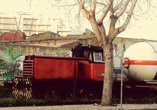 Trem velho do diesel Imagem de Stock Royalty Free