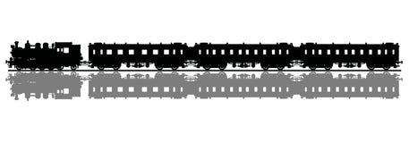 Trem velho do vapor ilustração do vetor