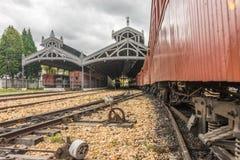 Trem velho ( Maria Fumaca ) Cidade da estação de John Del Rei de Saint fotografia de stock