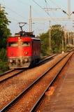 Trem vermelho Foto de Stock Royalty Free