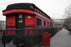 Trem vermelho Fotos de Stock