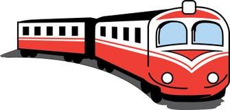 Trem vermelho pequeno ilustração stock