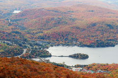 Tremblant Lake. The view on Tremblant Lake from Mont Tremblant in the Laurentide region of Quebec, Canada Stock Photos