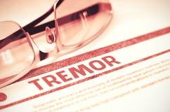 tremblement Concept médical sur le fond rouge illustration 3D Photo libre de droits