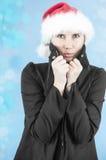 Tremblement dans le froid de l'hiver Images libres de droits