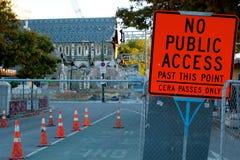 Tremblement de terre de Christchurch Images stock