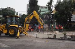 Tremblement de terre du Mexique photos stock