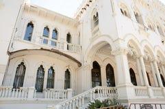 Tremblement de terre endommagé de palais de Vergara à partir de 2010 - Vina Del Mar - Chili Photographie stock