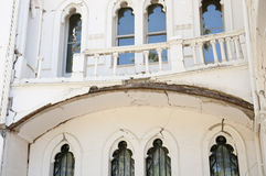 Tremblement de terre endommagé de palais de Vergara à partir de 2010 - Vina Del Mar - Chili Images libres de droits