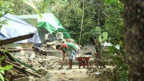 Tremblement de terre 2018 de Lombok banque de vidéos
