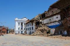 Tremblements de terre du Népal Image stock