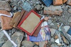 Tremblements de terre du Népal Photos libres de droits