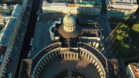 Tremendous famous landmark with grey rooftop aerial view royalty free stock image