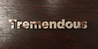 Tremendous - grungy wooden headline on Maple - 3D rendered royalty free stock image. This image can be used for an online website banner ad or a print postcard royalty free illustration