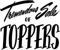 Tremendous Sale Of Toppers vector illustration