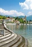 Tremezzo, lago Como, chi arriva vede, l'Italia Fotografia Stock
