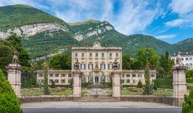 Villa Sola Cabiati in Tremezzo, on Lake Como. Lombary, Italy. royalty free stock photography