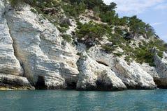 tremiti Италии островов calanques стоковое фото