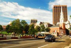 Tremont Street, Boston. Tremont Street in Boston, Massachusetts runs along the edge of Boston Common Stock Photo
