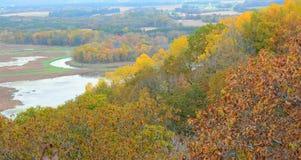 Trempeleau River Valley trascura Fotografia Stock