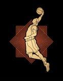 Tremper de joueur de basket Image stock