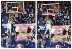 Trempez par Keanu Pinder en Arizona v Match de basket d'UConn images libres de droits