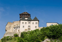 TrenÄ  Ãn城堡,斯洛伐克 库存图片