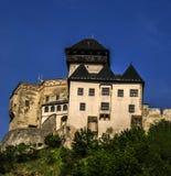 TrenÄ Ãn slott Arkivfoto
