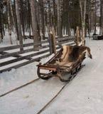 Trenó da rena em lapland finlandês imagens de stock royalty free