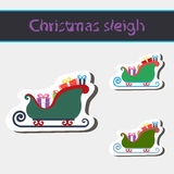 Trenó do Natal de Papai Noel Imagens de Stock
