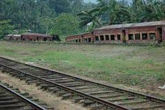 Tren abandonado en Sri Lanka Imagen de archivo libre de regalías