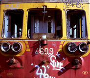 Tren abandonado viejo Imagen de archivo