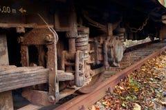 Tren aherrumbrado Foto de archivo
