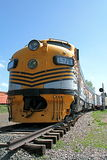Tren amarillo Foto de archivo libre de regalías