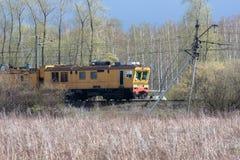 Tren amarillo imagen de archivo libre de regalías