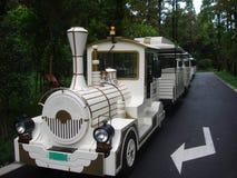 Tren blanco Foto de archivo libre de regalías