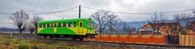 Tren coloreado rápido Foto de archivo