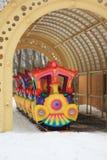 Tren colorido del ` s de los niños, carrusel Foto de archivo libre de regalías