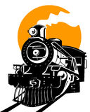 Tren con el sol Fotografía de archivo