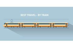 Tren con las sombras largas Imagen de archivo
