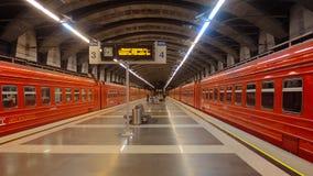 Tren de AeroExpress en Moscú Foto de archivo