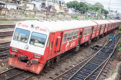 Tren de Airtel Fotos de archivo