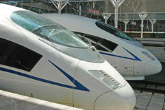 Tren de alta velocidad de China imagen de archivo libre de regalías