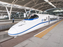 Tren de alta velocidad de China Fotografía de archivo