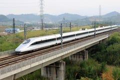 Tren de alta velocidad de China Imágenes de archivo libres de regalías