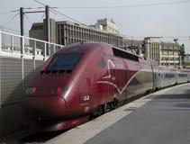 Tren de alta velocidad de Thalys Imagen de archivo libre de regalías
